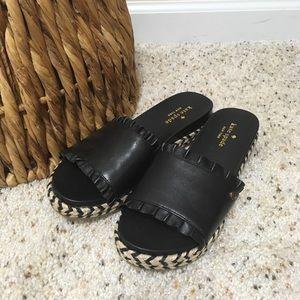 "♠️ ""Zahara"" Kate Spade Leather Slide Sandals! 💥"